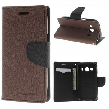 Samsung Galaxy Ace 4 Mercury Goospery Modisches Leder Case - braun