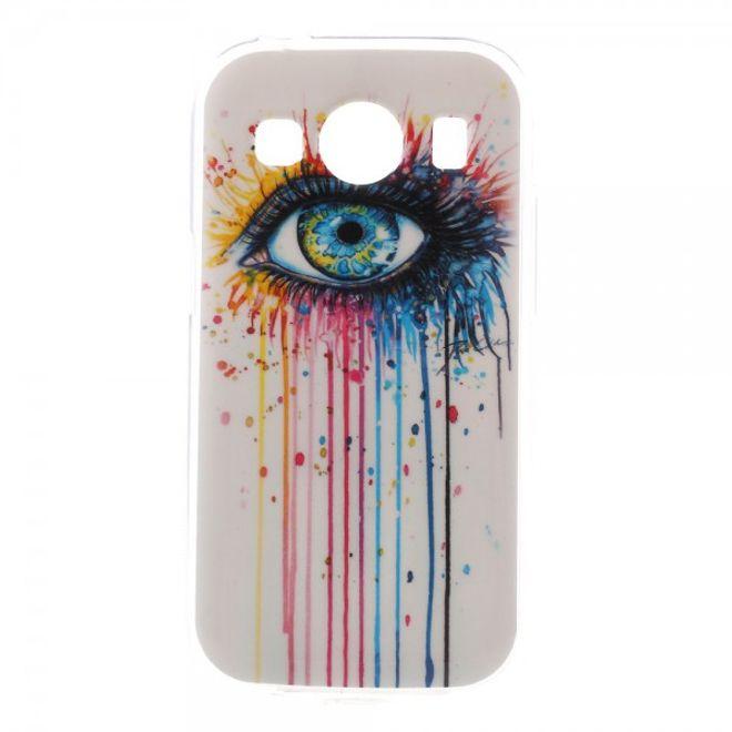 Samsung Galaxy Ace 4 Elastisches Plastik Case mit farbigem Auge