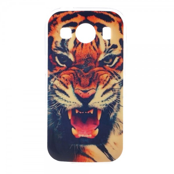 Samsung Galaxy Ace 4 Elastisches Plastik Case mit knurrendem Tiger