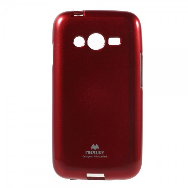 Newsets Samsung Galaxy Ace 4 (LTE Version) Newsets Mercury Elastisches, leicht glänzendes Plastik Case - rot