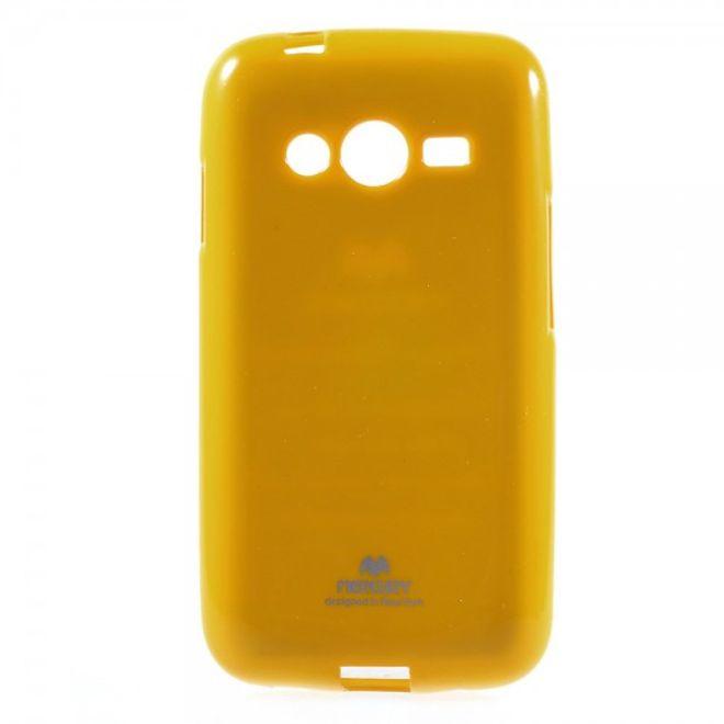 Newsets Samsung Galaxy Ace 4 (LTE Version) Newsets Mercury Elastisches, leicht glänzendes Plastik Case - gelb