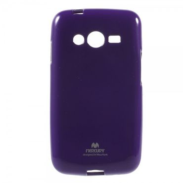 Samsung Galaxy Ace 4 (LTE Version) Newsets Mercury Elastisches, leicht glänzendes Plastik Case - purpur