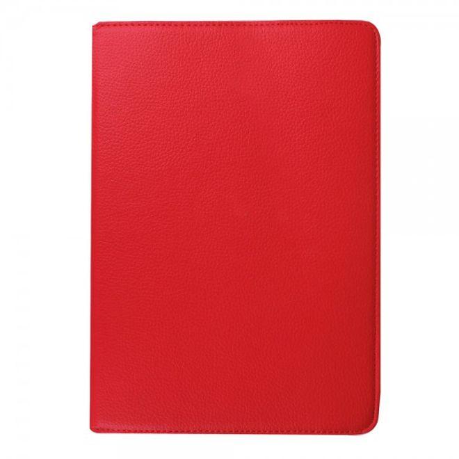Samsung Galaxy Tab S2 9.7 Rotierbares Leder Case mit Litchitextur - rot