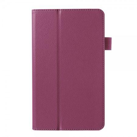 Huawei MediaPad M1 8.0 Faltbares Leder Case mit Standfunktion und Litchimuster - purpur