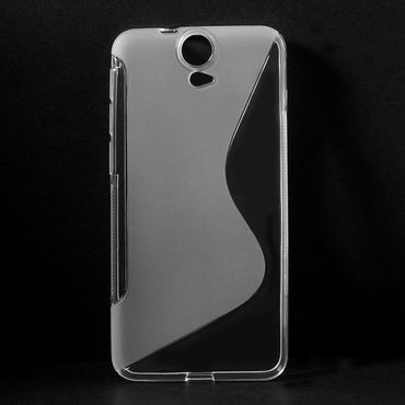 HTC One E9 Plus Elastisches Plastik Case S-Shape - transparent