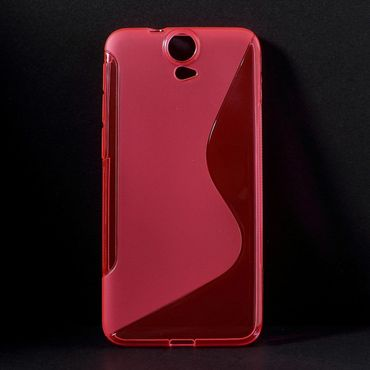 HTC One E9 Plus Elastisches Plastik Case S-Shape - rosa
