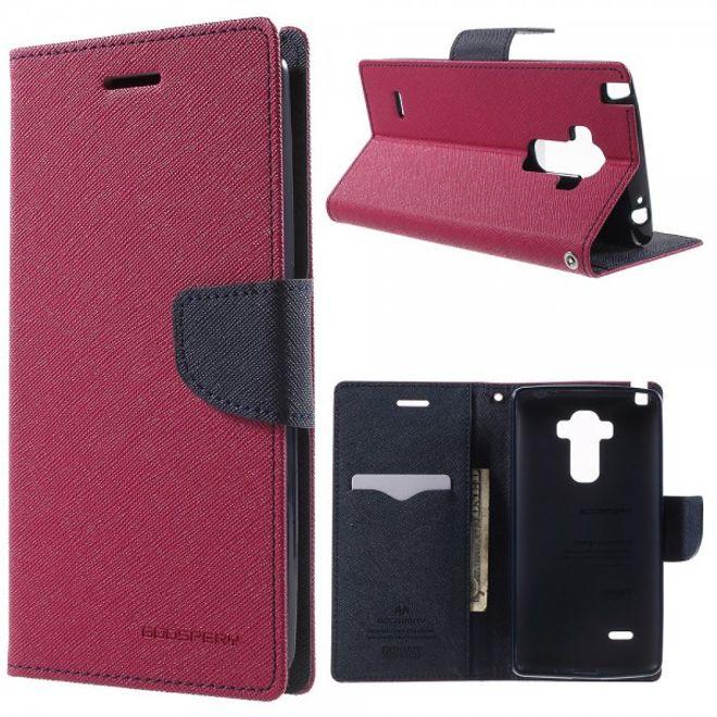 Goospery LG G4 Stylus Mercury Goospery Modisches Leder Case - rosa