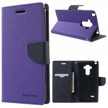 LG G4 Stylus Mercury Goospery Modisches Leder Case - purpur