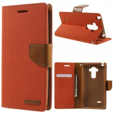 LG G4 Stylus Mercury Goospery Stoffartiges Leder Case - orange