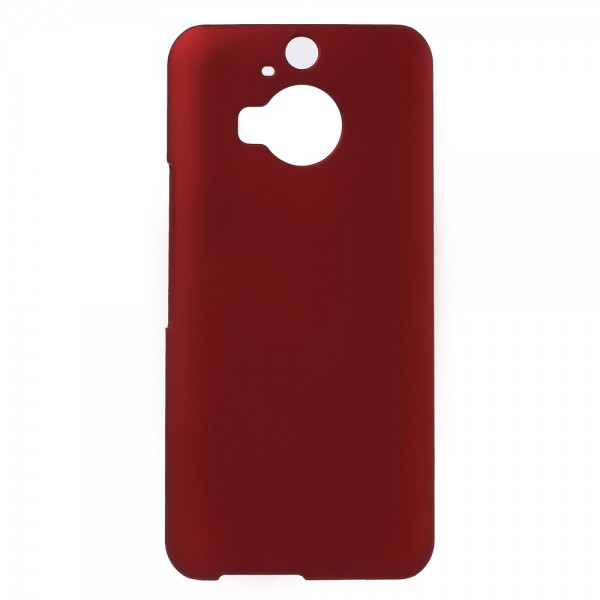 HTC One M9 Plus Gummiertes Hart Plastik Case - rot