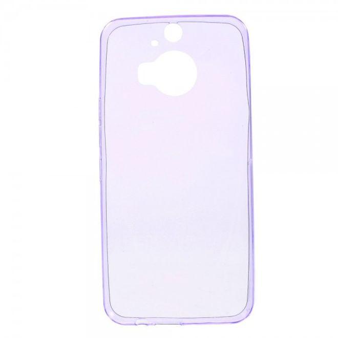 HTC One M9 Plus Ultradünnes (0.6mm), elastisches Plastik Case - purpur