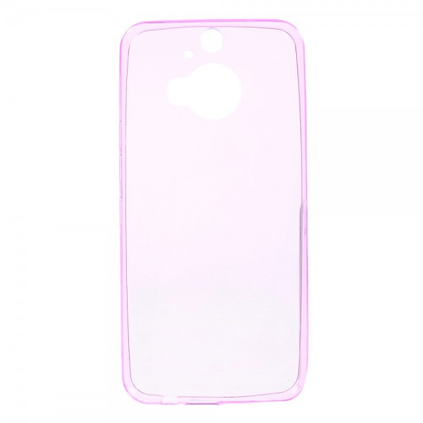 HTC One M9 Plus Ultradünnes (0.6mm), elastisches Plastik Case - pink