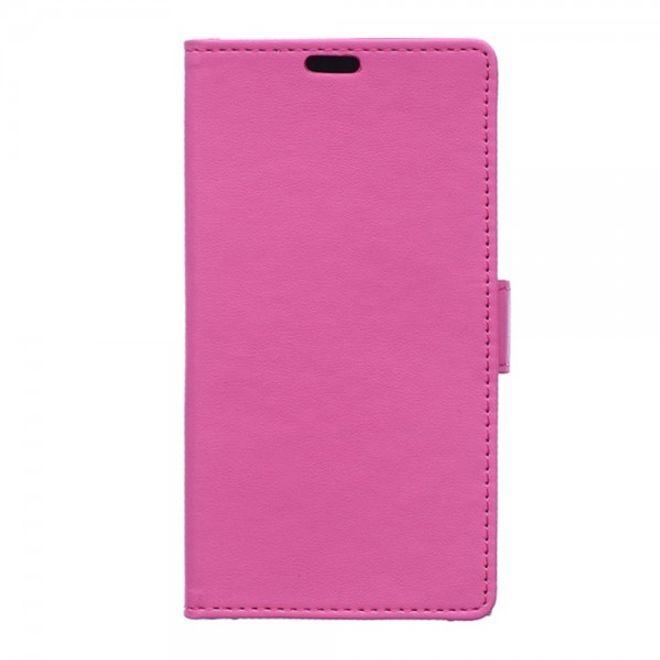 Samsung Galaxy S6 Active Modisches Leder Case mit Standfunktion - rosa