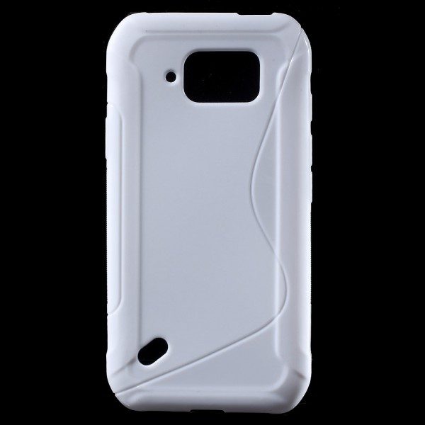 Samsung Galaxy S6 Active Elastisches Plastik Case S-Shape - weiss