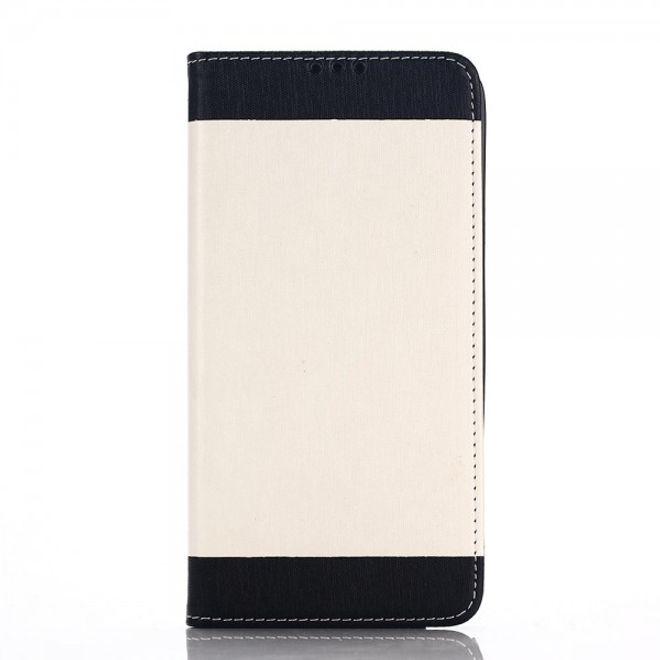 Samsung Galaxy Note 5 Leder Case mit seidenartiger Oberfläche - weiss