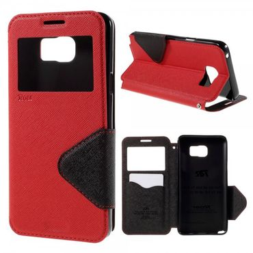Samsung Galaxy Note 5 Roar Korea Leder Case mit Standfunktion - rot