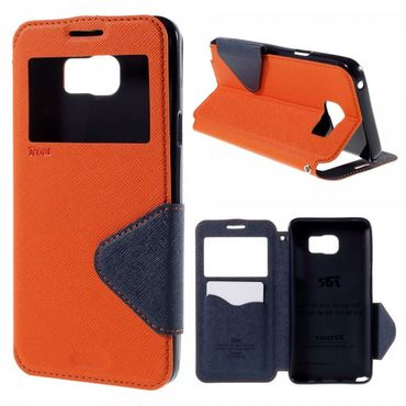 Samsung Galaxy Note 5 Roar Korea Leder Case mit Standfunktion - orange