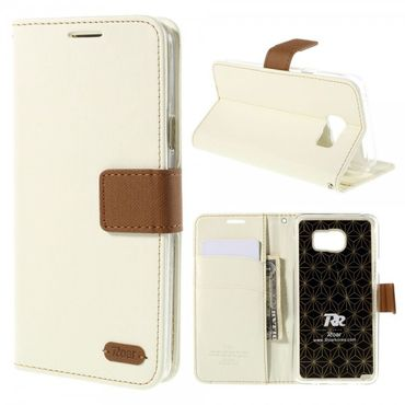 Samsung Galaxy Note 5 Roar Korea Leder Case mit Köpermuster - weiss