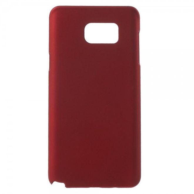 Samsung Galaxy Note 5 Gummiertes Hart Plastik Case - rot