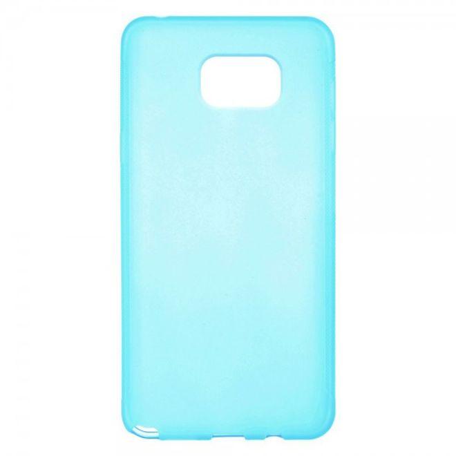 Samsung Galaxy Note 5 Rutschfestes, elastisches Plastik Case - blau