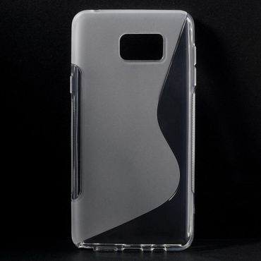 Samsung Galaxy Note 5 Elastisches Plastik Case S-Shape - transparent