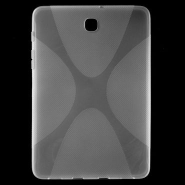 Samsung Galaxy Tab S2 8.0 Elastisches Plastik Case X-Shape - transparent