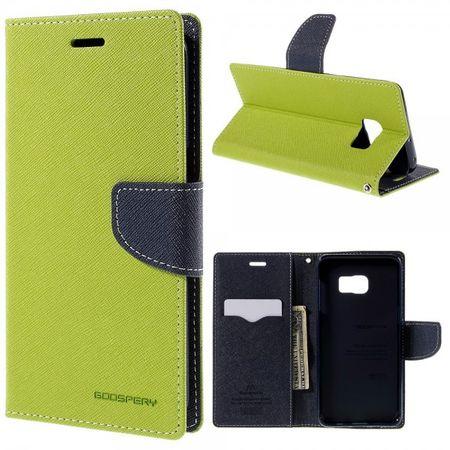 Samsung Galaxy S6 Edge Plus Mercury Goospery Leder Case mit Kreditkartenslots - grün