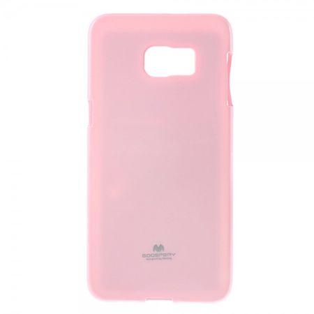 Samsung Galaxy S6 Edge Plus Mercury Goospery Elastisches, leicht glänzendes Plastik Case - pink