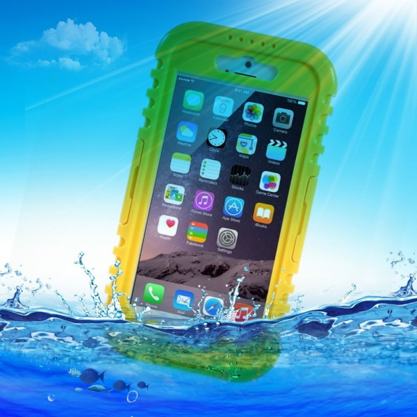 iPhone 6/6S Wasserdichtes Plastik Case nach IP-68 Standard - gelb