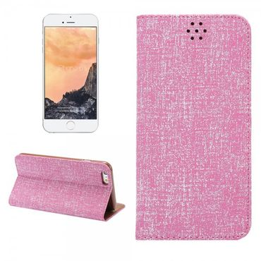 iPhone 6 Plus/6S Plus Magnetisches Leder Case mit Oxford Nylon Textur und Standfunktion - pink