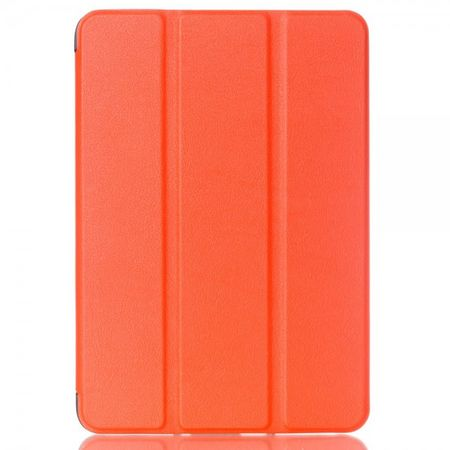 Samsung Galaxy Tab S2 8.0 Faltbares Leder Smart Case mit Litchitextur - orange