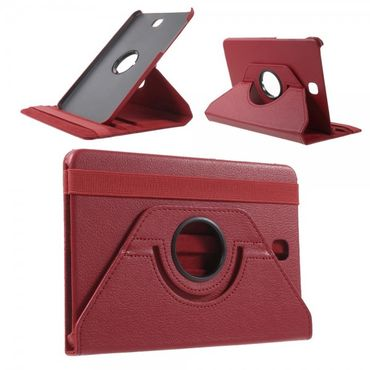 Samsung Galaxy Tab S2 8.0 Stabiles, 360° rotierbares Leder Flip Case - rot