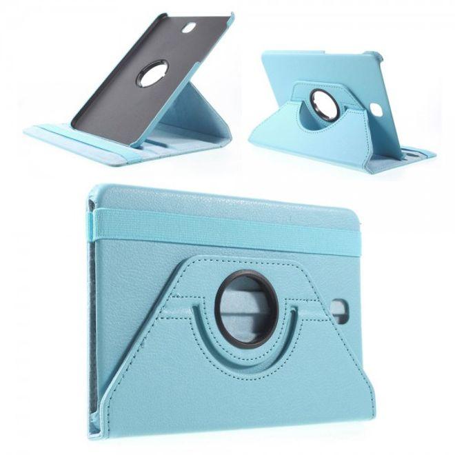 Samsung Galaxy Tab S2 8.0 Stabiles, 360° rotierbares Leder Flip Case - hellblau