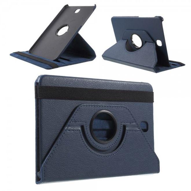 Samsung Galaxy Tab S2 8.0 Stabiles, 360° rotierbares Leder Flip Case - dunkelblau