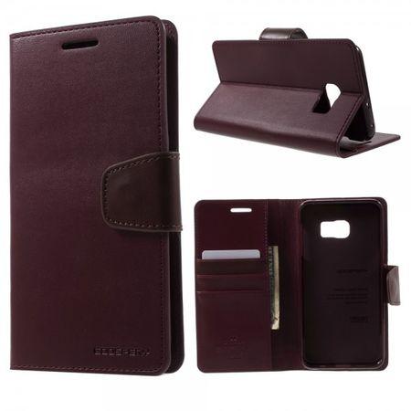 Samsung Galaxy S6 Edge Plus Mercury Goospery Sonata Diary Leder Case - weinrot