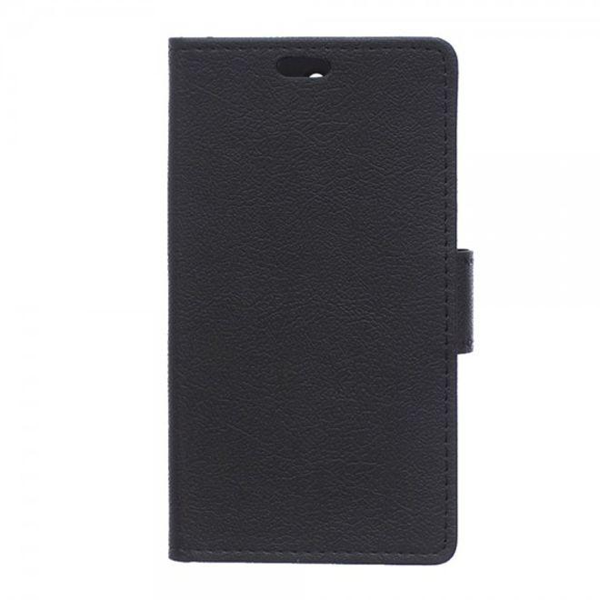Samsung Galaxy S6 Edge Plus Klassisches Leder Case mit Litchitextur - schwarz