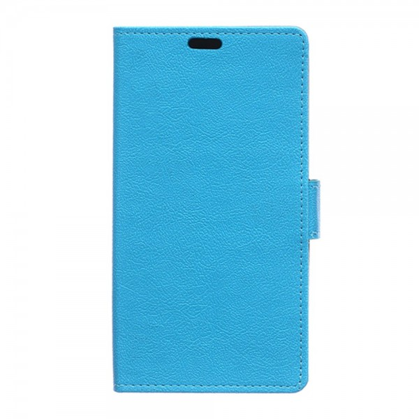 Samsung Galaxy S6 Edge Plus Klassisches Leder Case mit Litchitextur - blau
