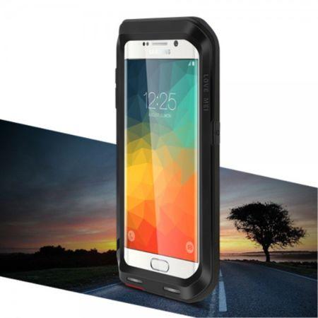Samsung Galaxy S6 Edge Plus LOVE MEI Ultrarobustes Metall und Silikon Case (ohne Gorilla Glas) - schwarz