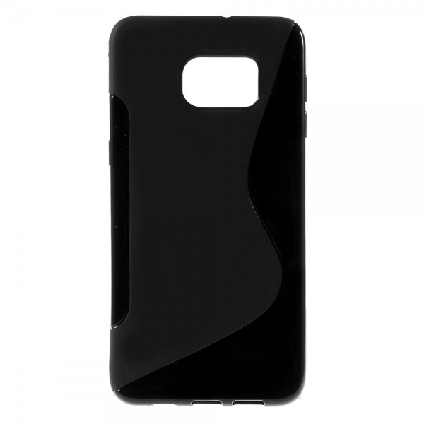 Samsung Galaxy S6 Edge Plus Elastisches Plastik Case S-Shape - schwarz
