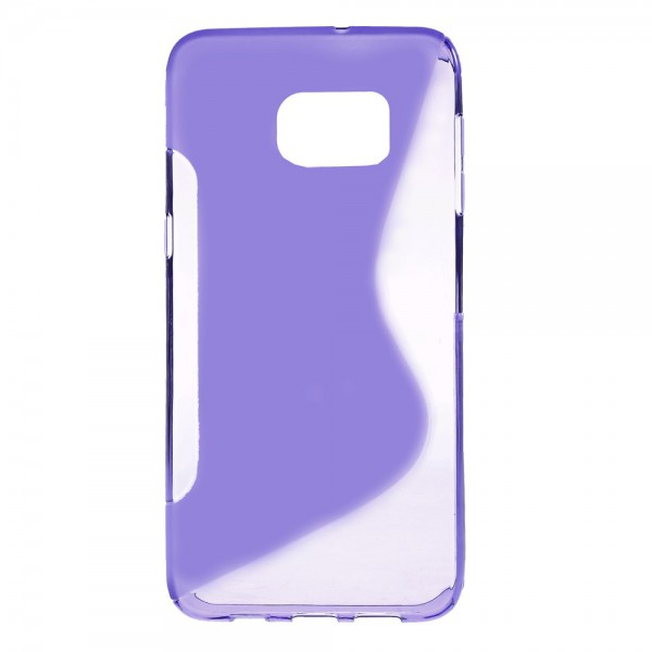 Samsung Galaxy S6 Edge Plus Elastisches Plastik Case S-Shape - purpur