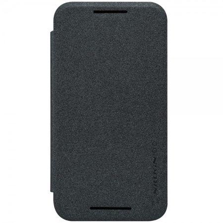 Motorola Moto G (3 Gen) Nillkin Sparkle Series Leder Smart Case - schwarz