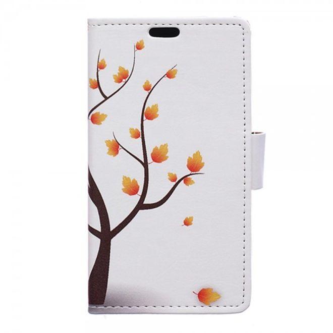 MU Style Samsung Galaxy Trend 2 Lite Leder Case mit herbstlichem Baum