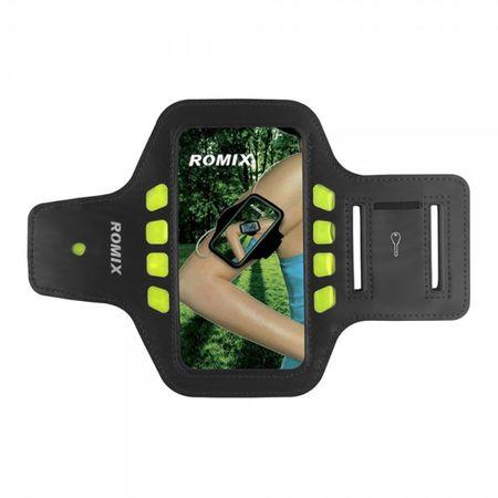 iPhone 6/6S Sport Armband mit LED Lichtern von Romix - schwarz