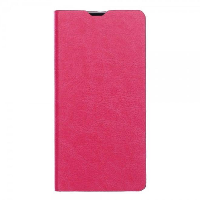 Sony Xperia Z5 Compact Schlichtes Crazy Horse Leder Case mit Kreditkartenslots - rosa