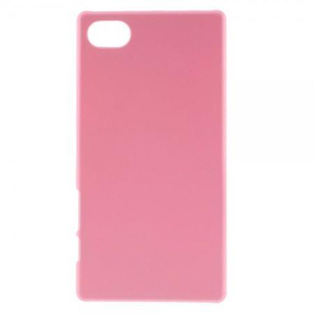 Sony Xperia Z5 Compact Gummiertes Hart Plastik Case - pink