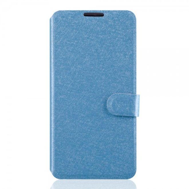 Alcatel One Touch Idol 3 4.7 Leder Case mit seidenartiger Textur und Standfunktion - hellblau