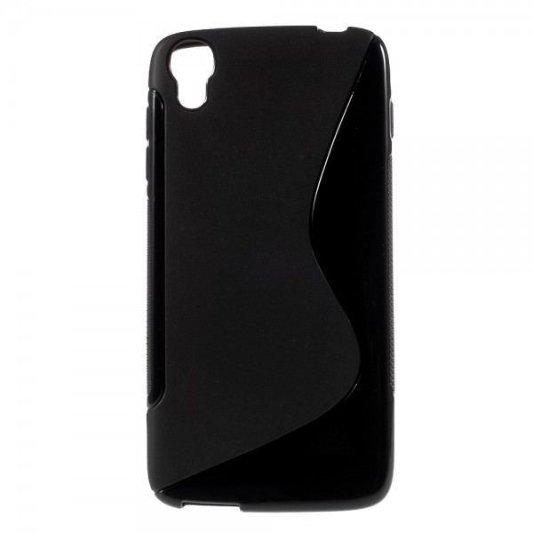 Alcatel One Touch Idol 3 4.7 Elastisches Plastik Case S-Shape - schwarz
