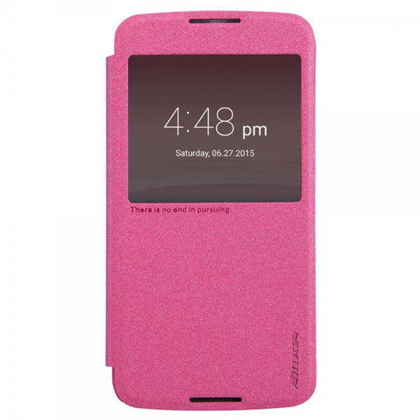 Nillkin Alcatel One Touch Idol 3 5.5 Nillkin Sparkle Series Leder Case - rosa