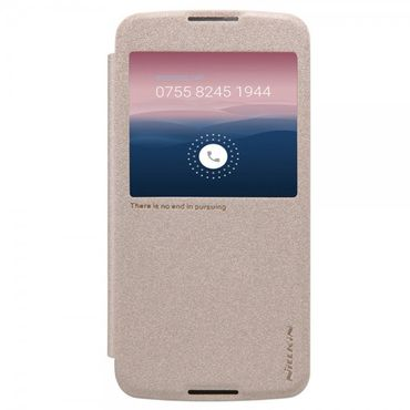 Alcatel One Touch Idol 3 5.5 Nillkin Sparkle Series Leder Case - gold