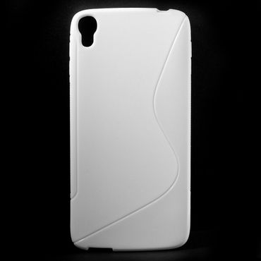Alcatel One Touch Idol 3 5.5 Elastisches Plastik Case S-Shape - weiss